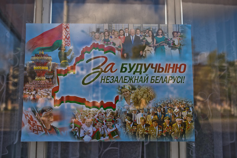 Election poster in Vitebsk