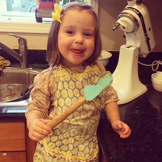 My littlest cookie baking helper.