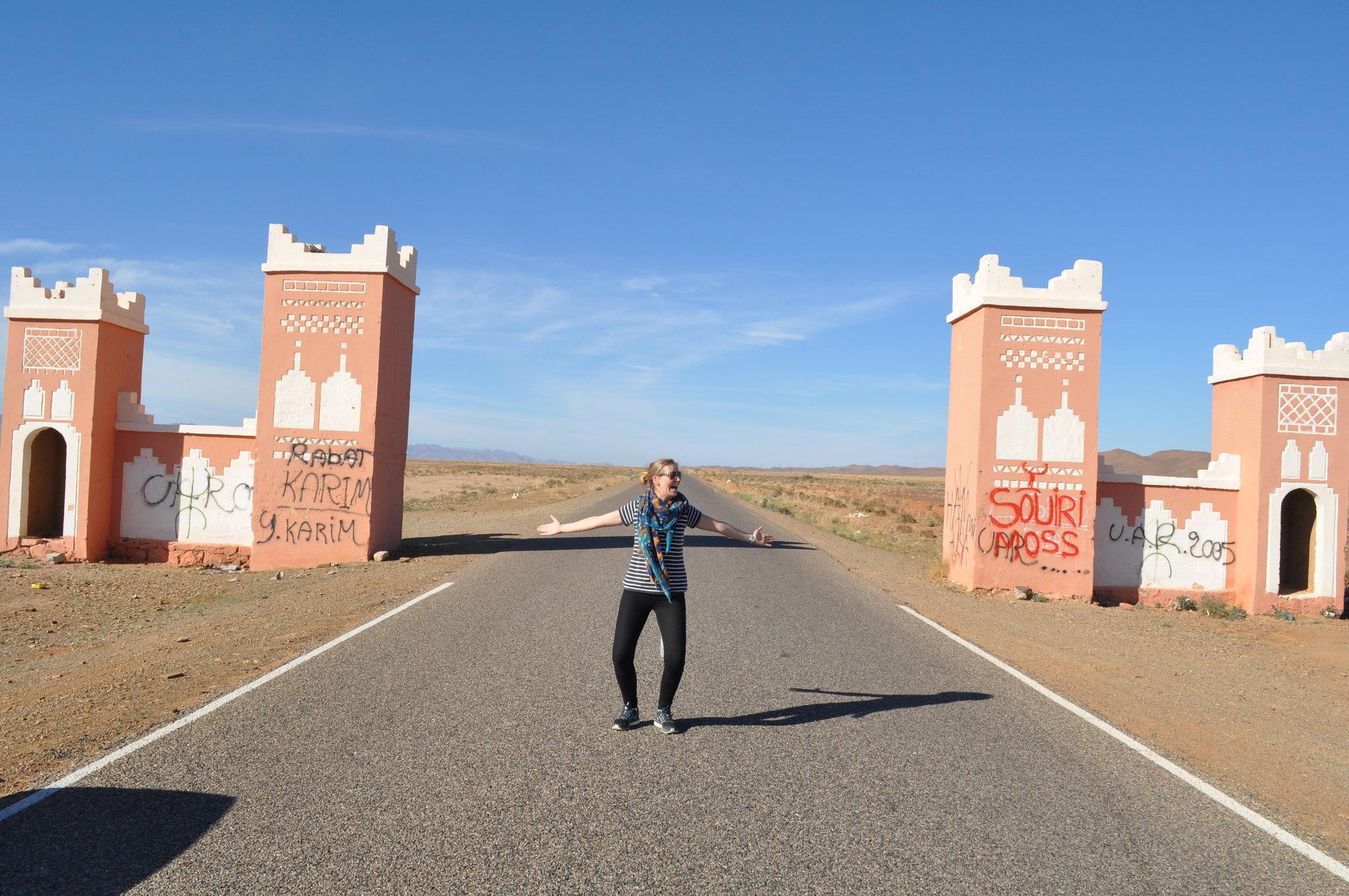 Morocco Desertroad Girl