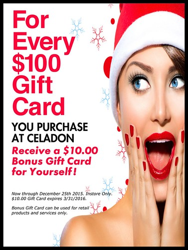 Celadon Spa & Salon Holiday Gift Card Special