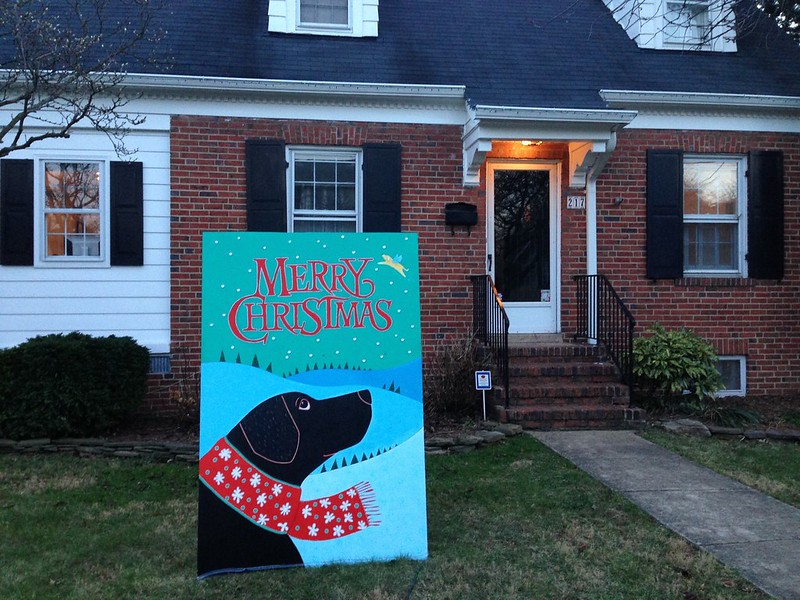 Del Ray S Christmas Card Lane Diy Del Ray