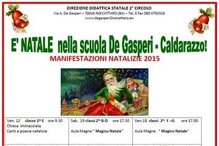 Noicattaro. Natale alla De Gasperi front