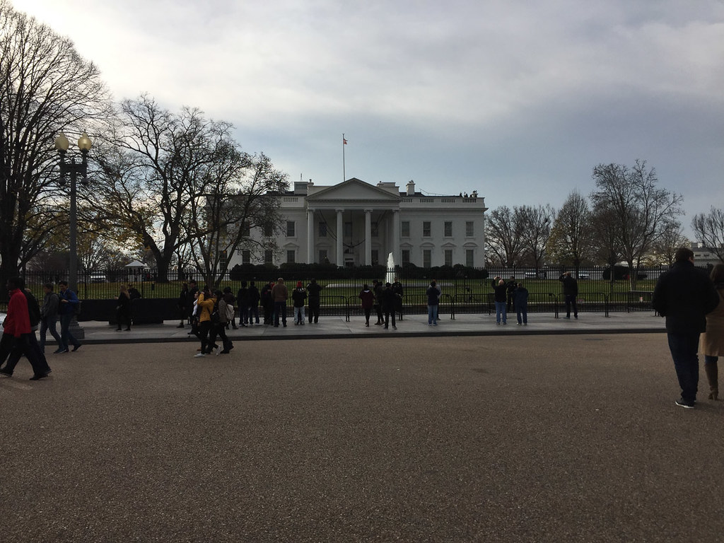 Outside the White House after Tour