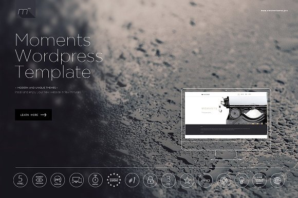 Moments WP v6.0 - Theme One Page Wordpress