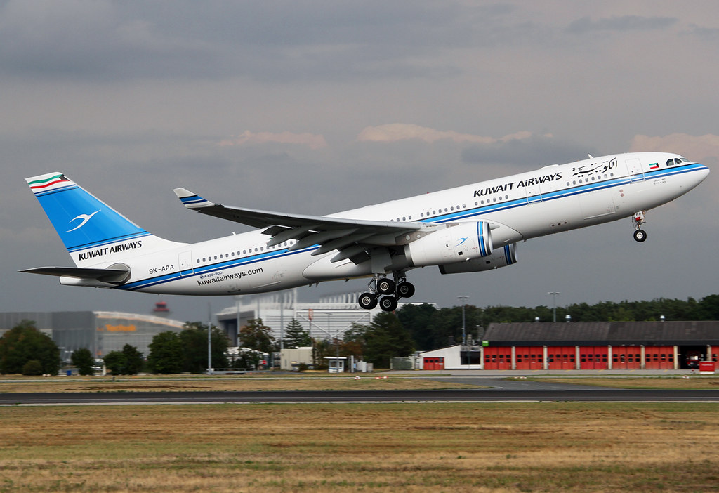 KU175 to Geneva GVA rotates early from RWY18. Brand new aircraft type for Kuwait Airways, delivered 06/2015 and will replace their old A340-300's and A300's.