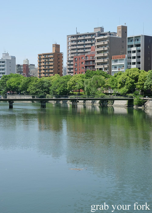 Bridge across the Ota River in Hiroshima