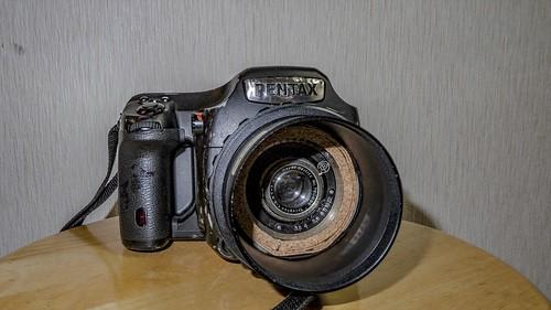 pentax 645Z with Trioplan 73mm f3.5