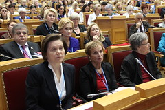 academic conference, parliament, audience,