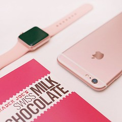 #iphone6splus #rosegold #applewatch #chocolatemilk