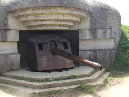 Casemate et canon de 150 mm