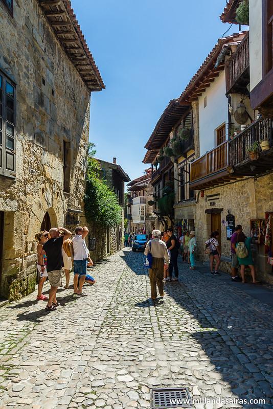 Calles empedradas de Santillana