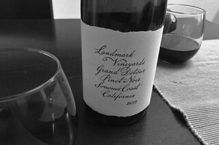 Landmark Vineyard - Grand Detour 2013 Pinot Noir Sonoma Coast bw by roland luistro, on Flickr