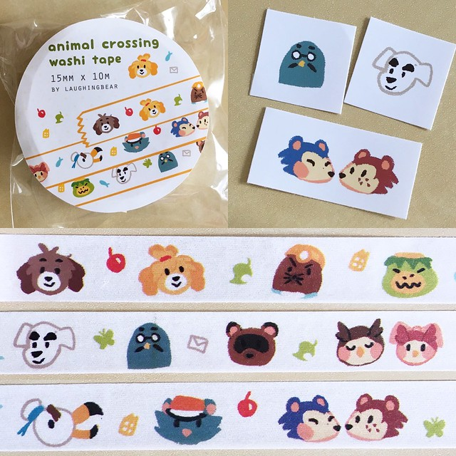 I bought Animal Crossing washi tape for me and @jijipunch and then forgot to post about it. It's so cute!