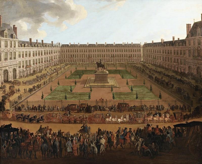 Pierre-Denis Martin - L'arrivée à Paris, Place Royale, de l'ambassadeur Vénitien Alvise II Pisani, le 22 novembre 1699