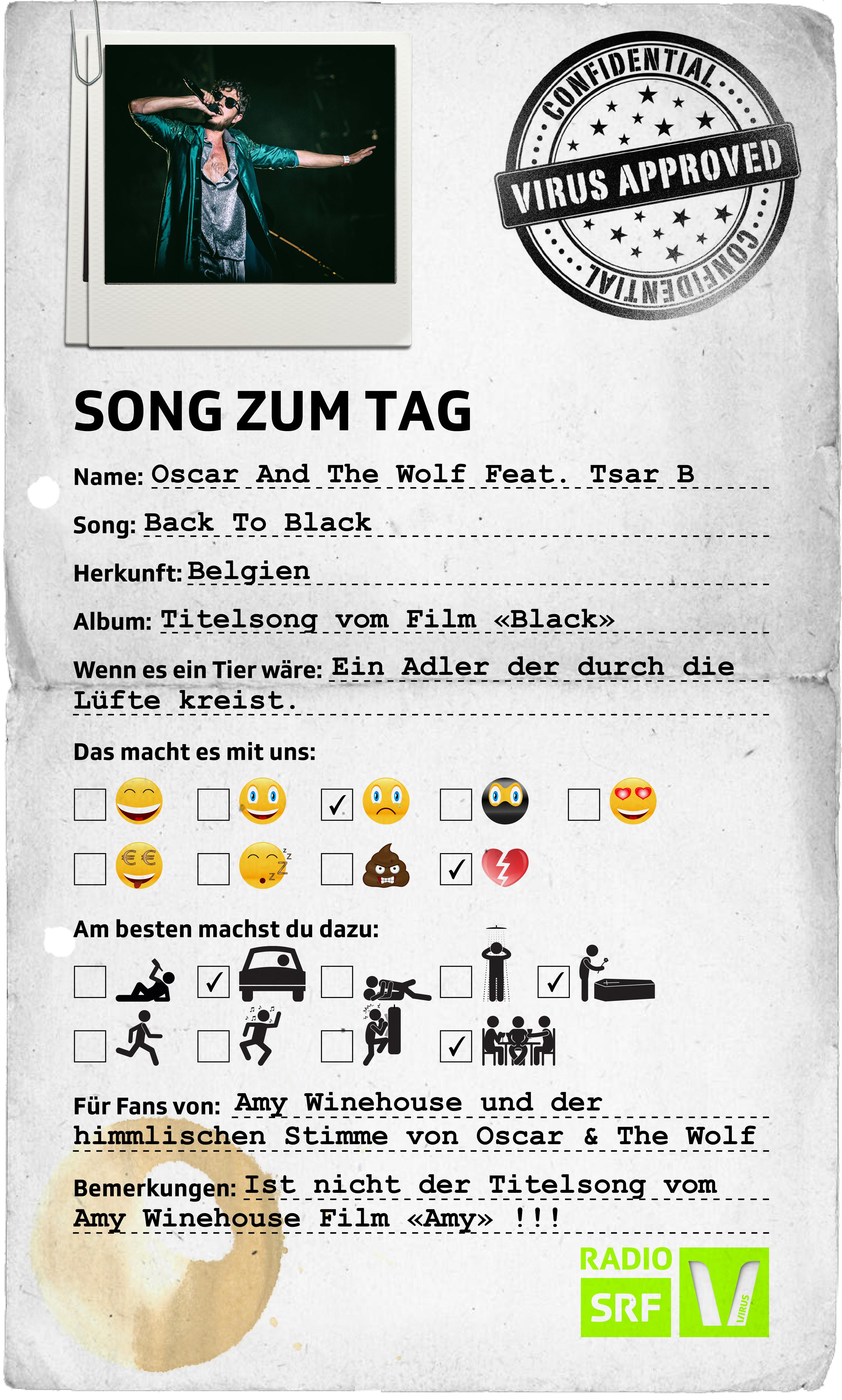 Radio SRF Virus: Song zum Tag