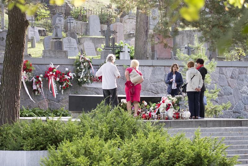 Cmentarz na Rossie - Grób Józefa Piłsudskiego, Wilno, Litwa