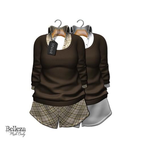 {MYNX} Collared Sweater Dress - Brown Plaid
