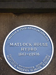 Photo of Matlock House Hydro blue plaque