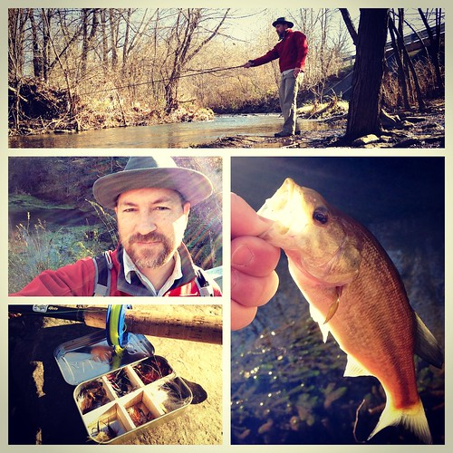 Urban Tenkara fly fishing on South Creek and at Valley Water Mill Park