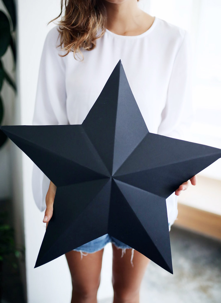 Diy 3d star decorations gift boxes a pair a spare for 3d star decoration