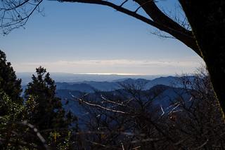 江の島も見えます@高尾山頂
