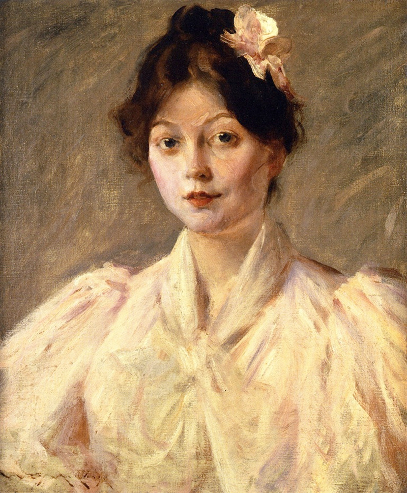 Young Woman in Pink by William Merritt Chase , 1905