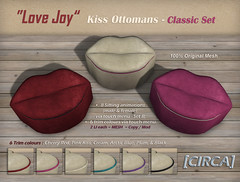 "@ SaNaRae ~ [CIRCA] - ""Love Joy"" - Kiss Ottomans - Classic Set"