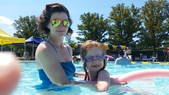 Ellie & Mommy In The Pool