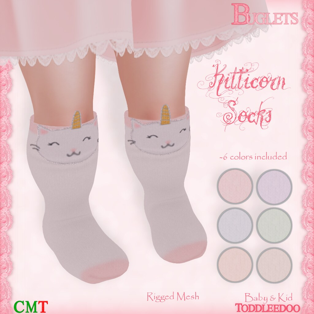 TD Kitticorn Socks AD - SecondLifeHub.com