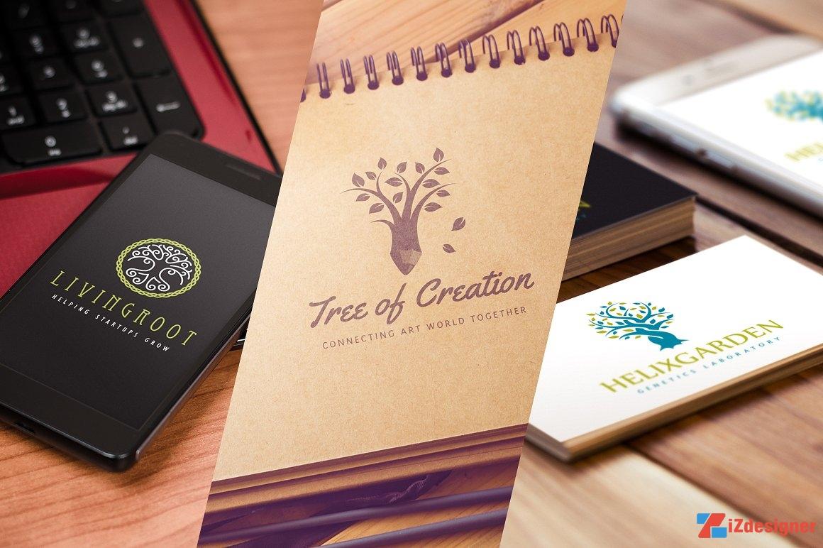 Download 15 Vector Logo cây cối cách điệu