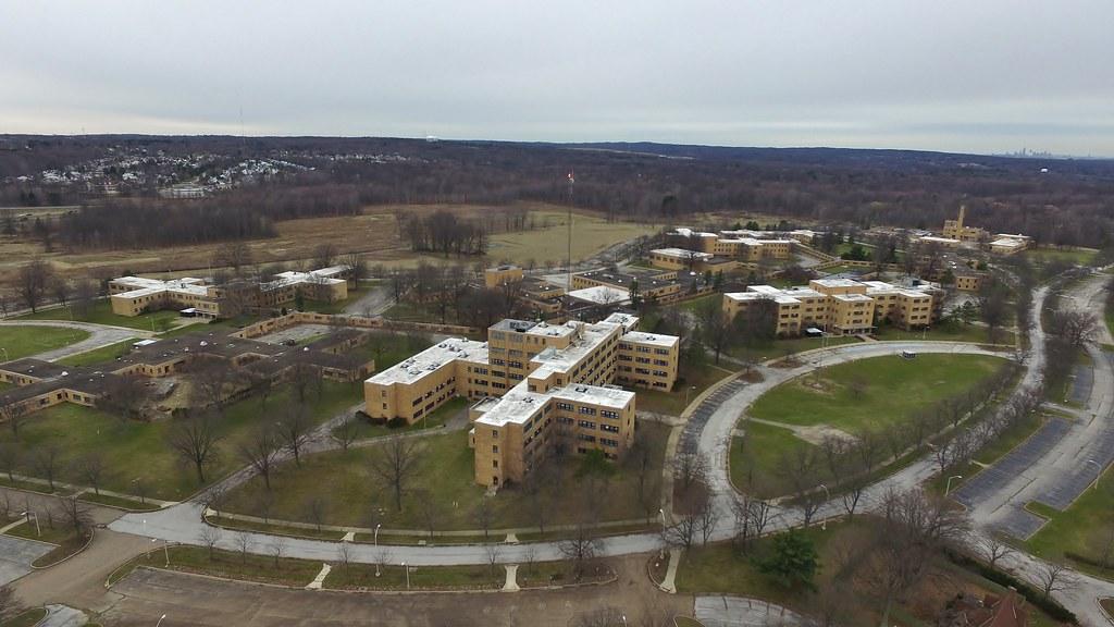 Abandoned VA Medical Center Drone Image (3)