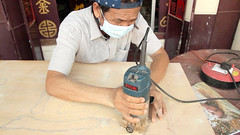 The Hip-Pop SIGNBOARD CARVER • Craftsman Shows How to Make • George Town • MALAYSIA-15