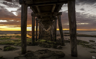 Under Point Lonsdale Pier at Sunrise