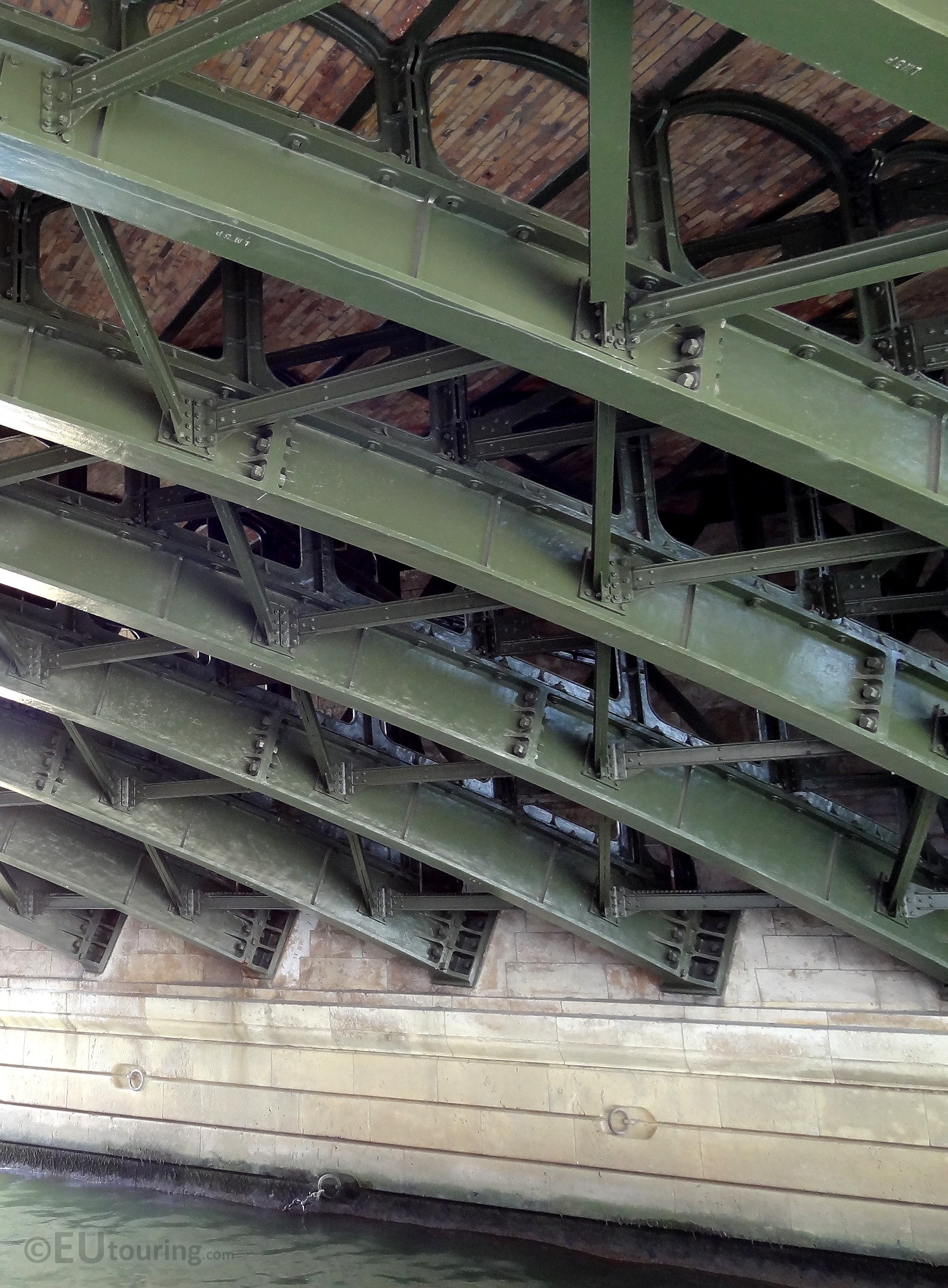 Metal beneath the Pont de Sully