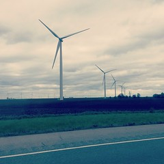 On our way to Chicago!! :grinning: #windmills #nature #Chicago #longdrive #mehubbyandbaby