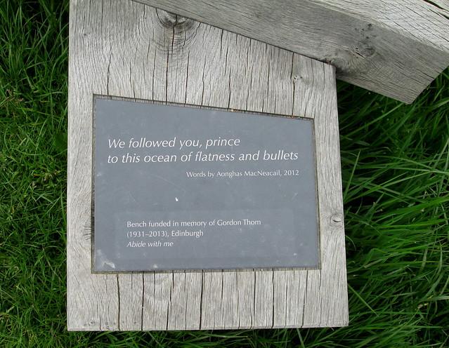 Culloden Memorial Bench English Inscription
