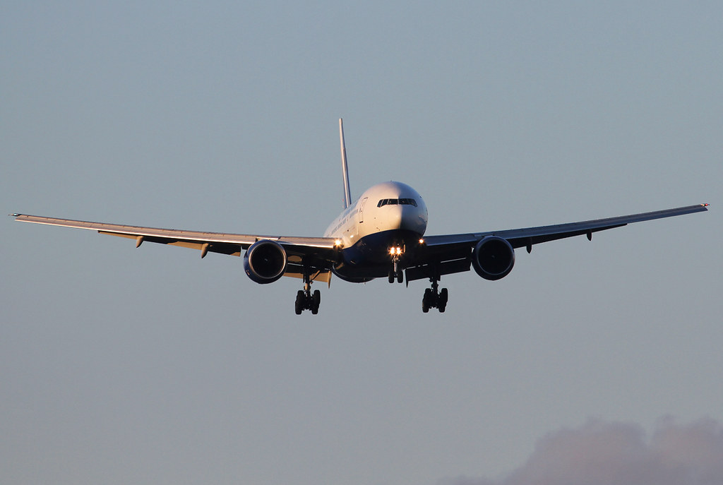Short final for RWY19 inbound from London LHR. Delivered 08/2007 to Air Europa.