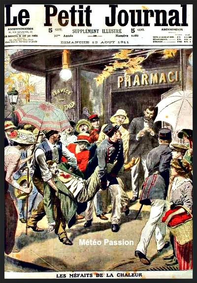 Le Petit Journal illustré et les méfaits de la canicule du début août 1911 météopassion