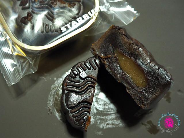 salted caramel mochi and chocolate starbucks mooncake