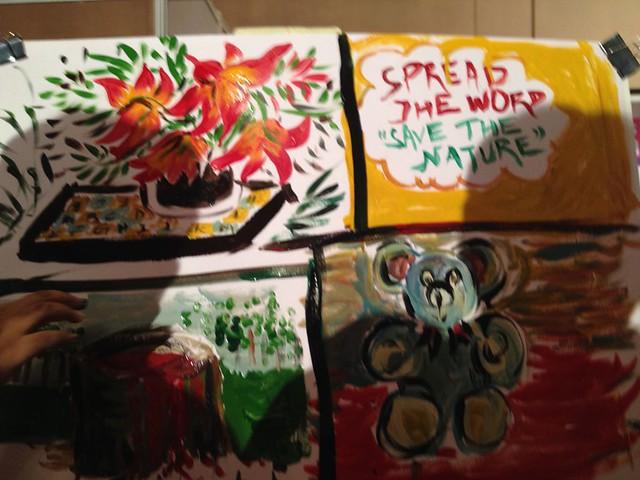 Pianting of Octopus Group - Berger Express Painting IndiBlogger Meet 2015 at The Oberoi Grand, Kolkata