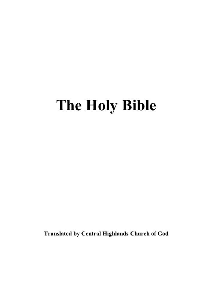 Central Highlands Christian Publications - Internet Bible