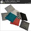 mudhoney ruffle cushions bold
