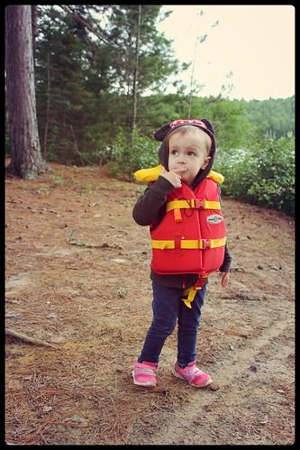 Réserve Faunique Mastigouche - bébé fille veste de sauvetage