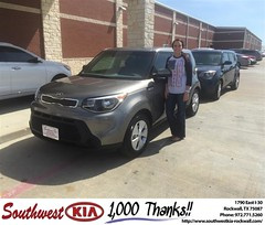 Congratulations Shelby on your #Kia #Soul from Don Weintraub at Southwest KIA Rockwall!