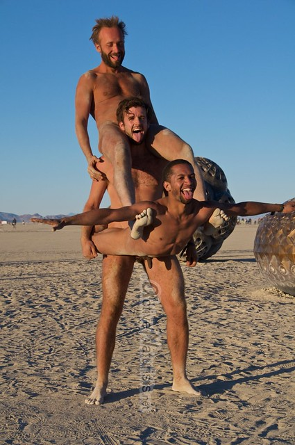 naturist acro-yoga gymnasium 0016 Burning Man 2015, Black Rock City, Nevada, USA