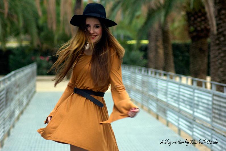 Vestido mostaza PULL AND BEAR INDITEX OTOÑO 2015 HEELSANDROSES (4)