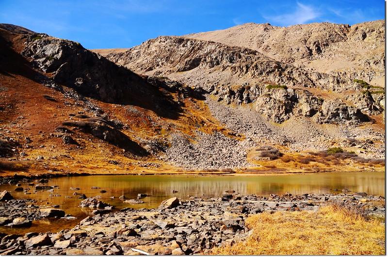 Herman Lake , in the background is the Pettingell Peak