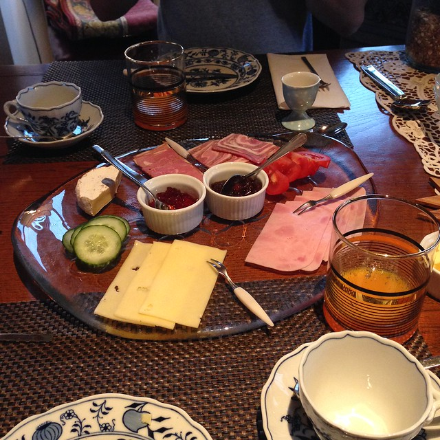 A small snapshot of breakfast items