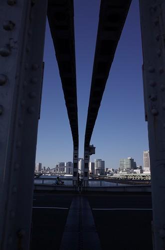 勝鬨橋あたり