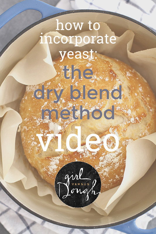 How to Incorporate Yeast: The Dry Blend Method (VIDEO) | girlversusdough.com @girlversusdough @RedStarYeast
